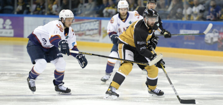 Photo of Robert Lachowicz during his return to Nottingham after spending 11 seasons with the club previously. Photo courtesy Nottingham Panthers.